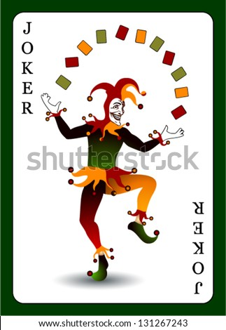 Joker card. Vector background. - stock vector