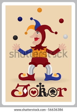 Joker juggle balls - stock vector