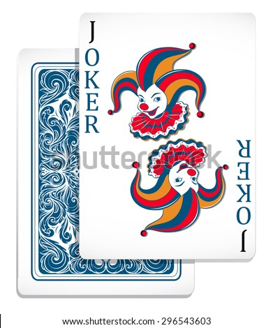 Joker original design card illustration - stock vector