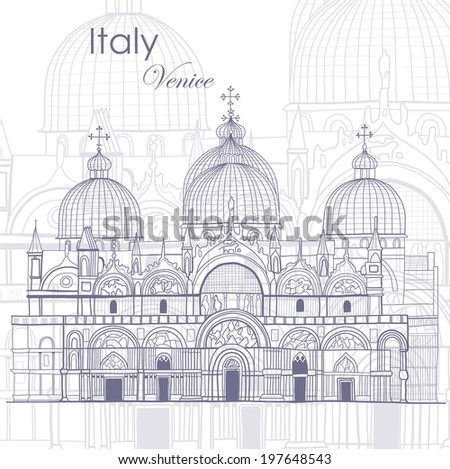 Journey to Italy. Venice.  - stock vector