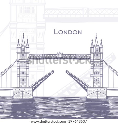 Journey to United Kingdom - stock vector