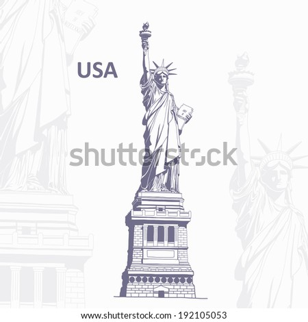 Journey to USA - stock vector
