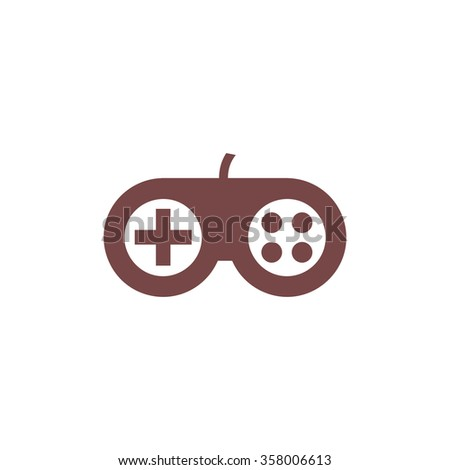 Joystick. Colorful vector icon. Simple retro color modern illustration pictogram. Collection concept symbol for infographic project and logo - stock vector