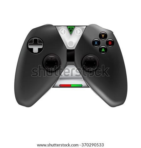 Joystick. Gaming device. Controller - stock vector
