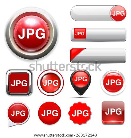 Jpg icon file - stock vector