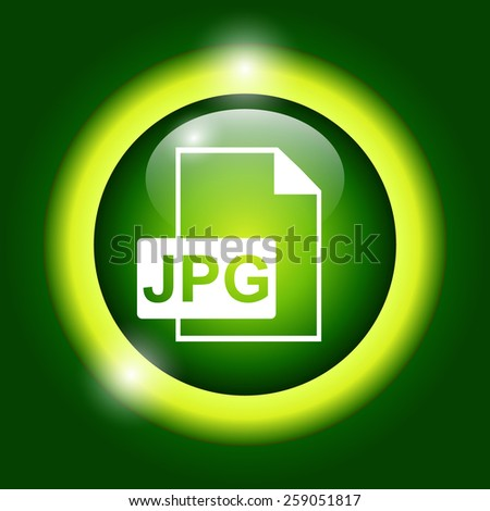 Jpg icon file vector. Flat vector illustrator Eps 10 - stock vector