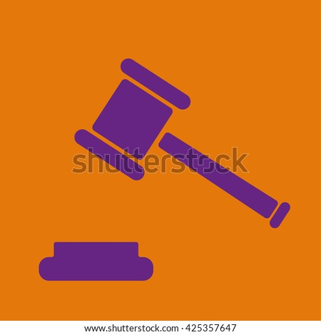 Judge Gavel Icon - stock vector