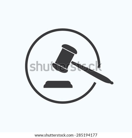judge's gavel or auction - stock vector