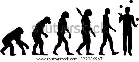 Juggler Evolution - stock vector