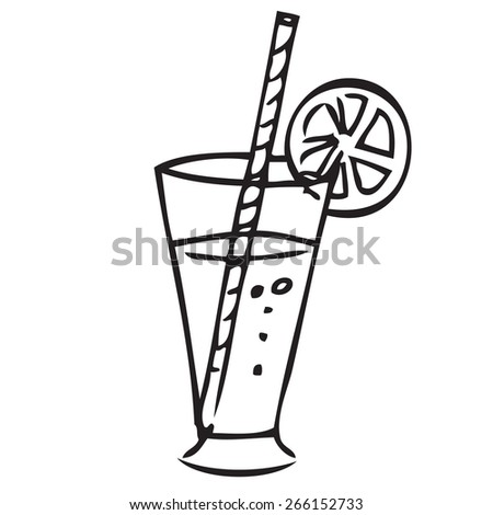 Juice Doodle - stock vector