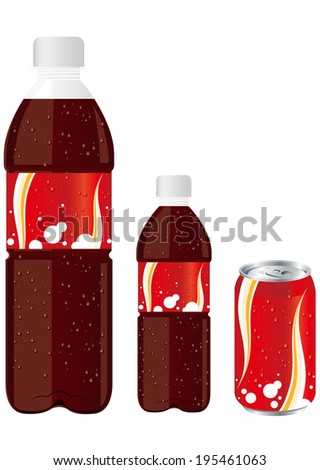 juice drink pet bottle can set Vector  - stock vector