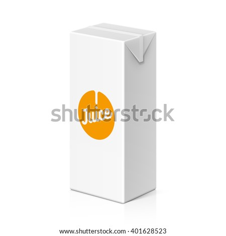 Juice or milk package mock up, 200ml. Vector illustration. - stock vector