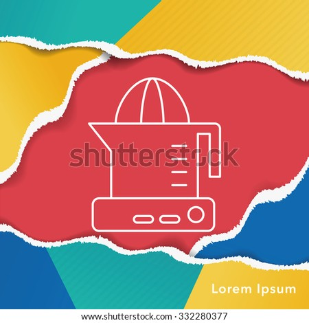 juicer line icon - stock vector