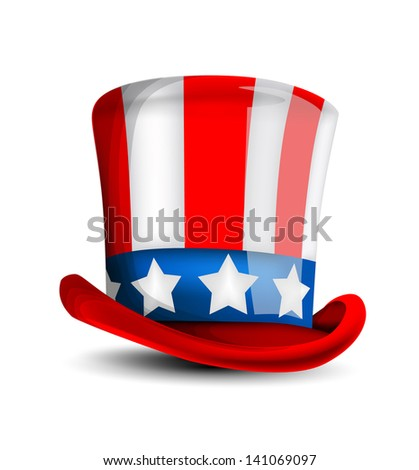 July 4 celebration hat - stock vector