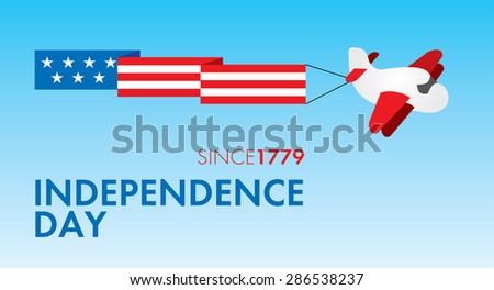 July Fourth, Independence Day of USA Vector Template - stock vector