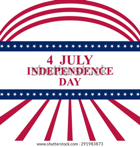 July 4 US Independence Day - stock vector