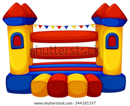Jumping castle with no children illustration - stock vector