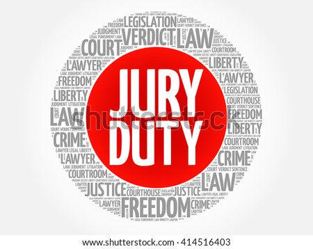 Jury Duty word cloud concept - stock vector