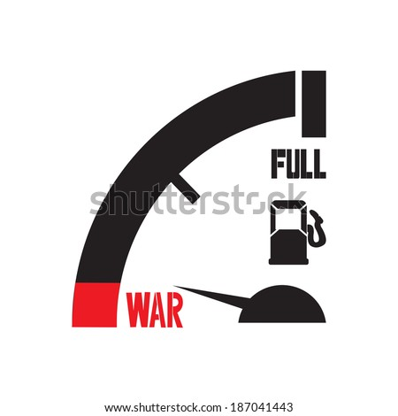 just a mile away from war - stock vector