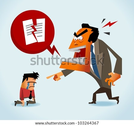 Just Fired. Vector - stock vector