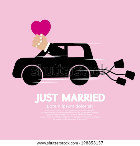 Just Married Concept Vector Illustration - stock vector