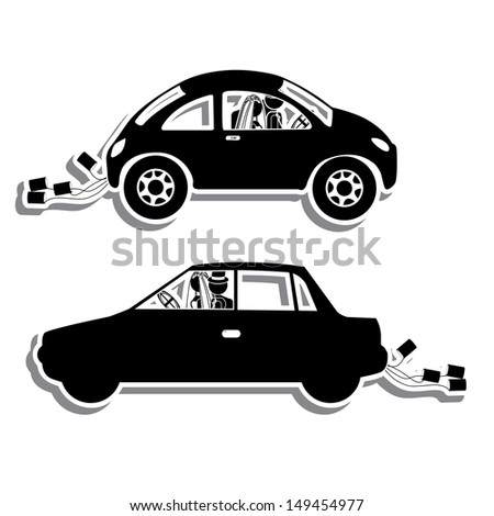 just married design over white background vector illustration  - stock vector