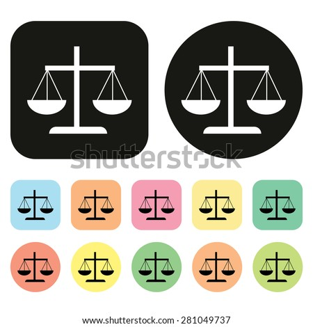 Justice icon. Balance icon. vector - stock vector