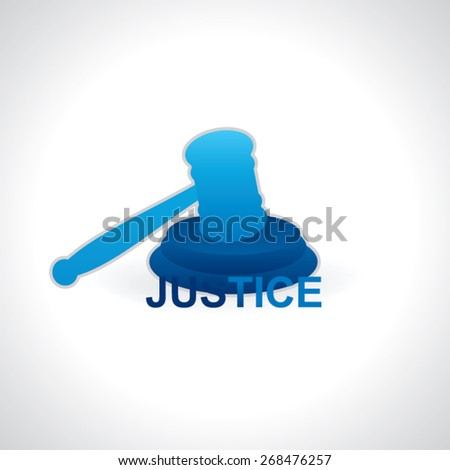 justice icon vector illustration  - stock vector