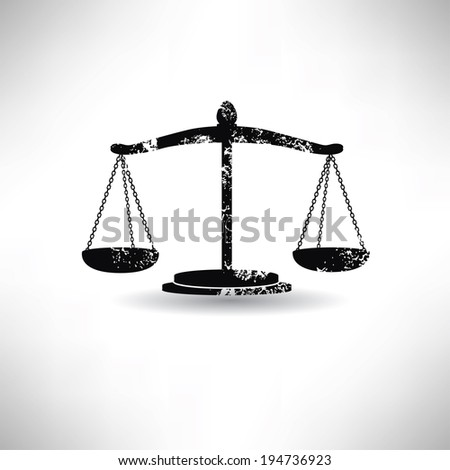 Justice law,grunge vector - stock vector