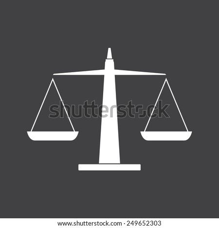 Justice scales icon - Vector - stock vector