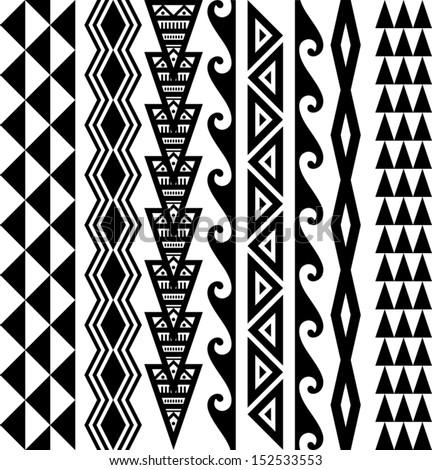 Kakau Hawaiian Tattoo Collection - stock vector