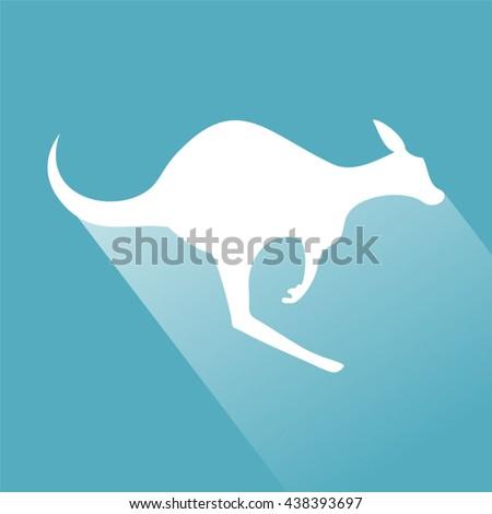 kangaroo sign - stock vector