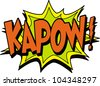 kapow - stock vector