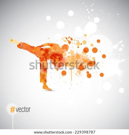 Karate - stock vector