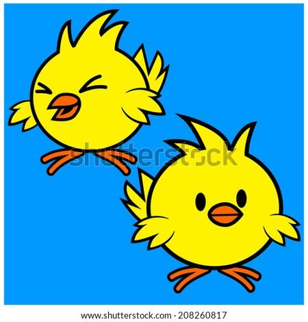 Kawaii Chick - stock vector