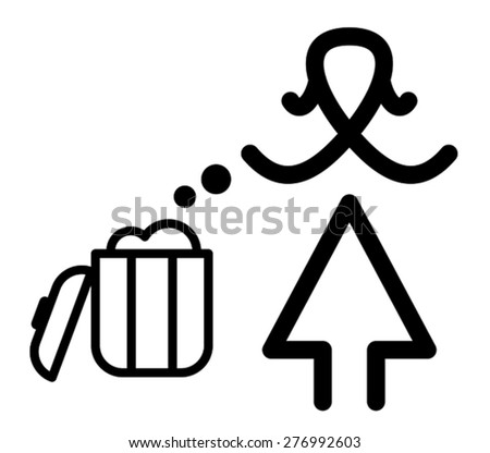 Keep clean sign, vector - stock vector
