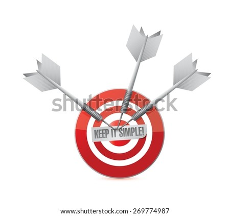 keep it simple target sign illustration design over white - stock vector