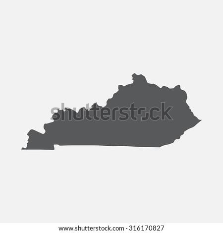 Kentucky state border map. - stock vector