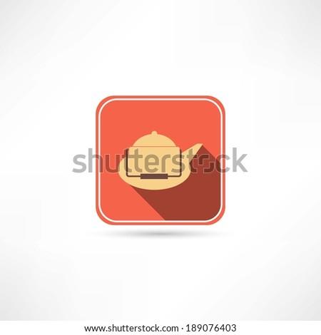 kettle icon - stock vector