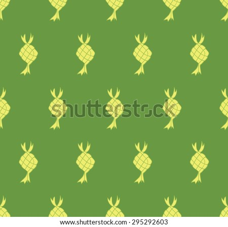 ketupat background for idul fitri event - stock vector