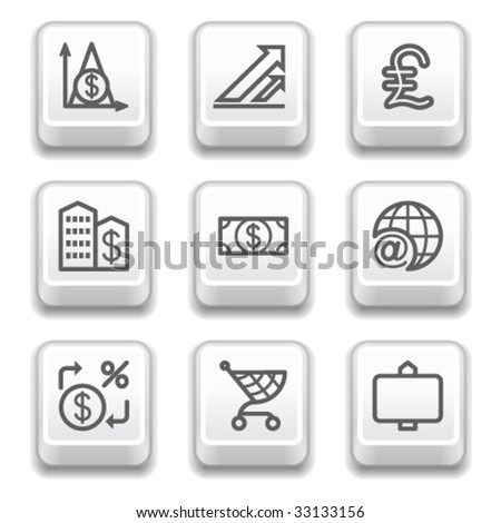 Key for web 23 - stock vector