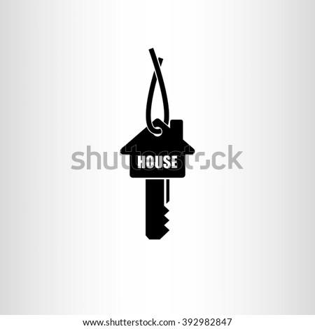Key House Icon. - stock vector