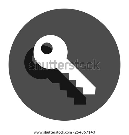 key icon - stock vector