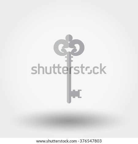 Key. Icon for web and mobile application. Vector illustration on a white background. Flat design style. - stock vector