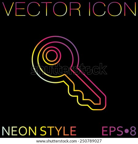 key icon sign - stock vector