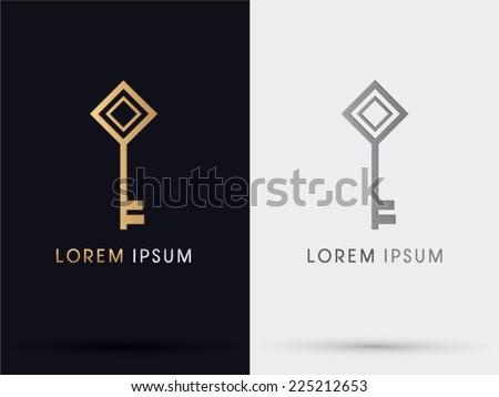 Key logo, symbol, icon,graphic,vector. - stock vector