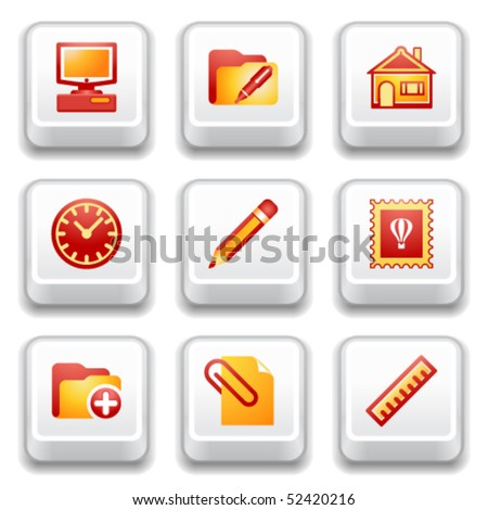 Key with icon 27 - stock vector