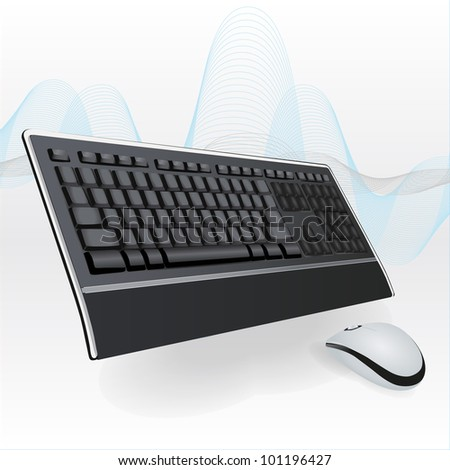 Keyboard and Mouse - stock vector