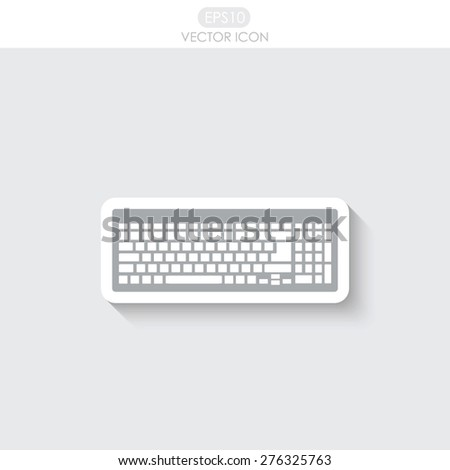 Keyboard icon. - stock vector