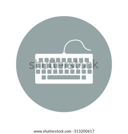 keyboard icon. Flat design style eps 10 - stock vector